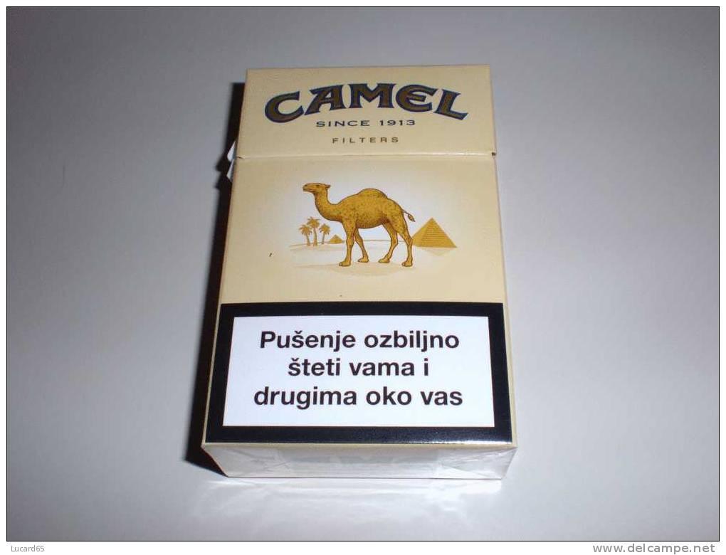TABACCO - CAMEL  - PACCHETTO SIGARETTE VUOTO CROAZIA - Contenitori Di Tabacco (vuoti)