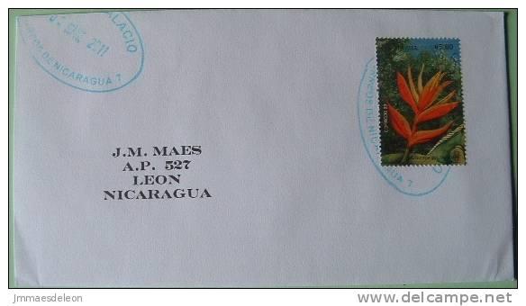 Nicaragua 2011 Cover Managua To Leon - Flora Flower Heliconia - Nicaragua