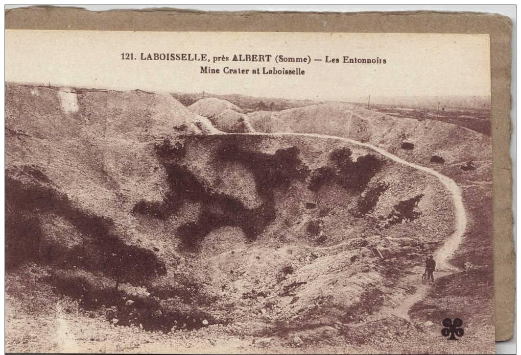 SOMME. LABOISSELLE PRES ALBERT .GUERRE DE 1914-18. LES ENTONNOIRS. - Albert