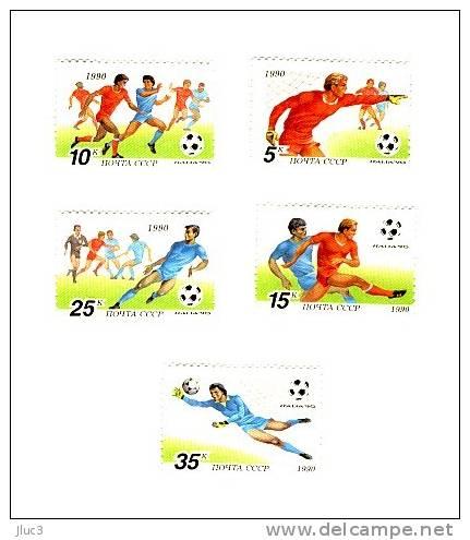 N5751-55 - URSS 1990 - Très Belle Série Complète Neuve** De 5 Timbres N°5751-55(YT) - SPORT : Football ITALIA 90 - Nuovi