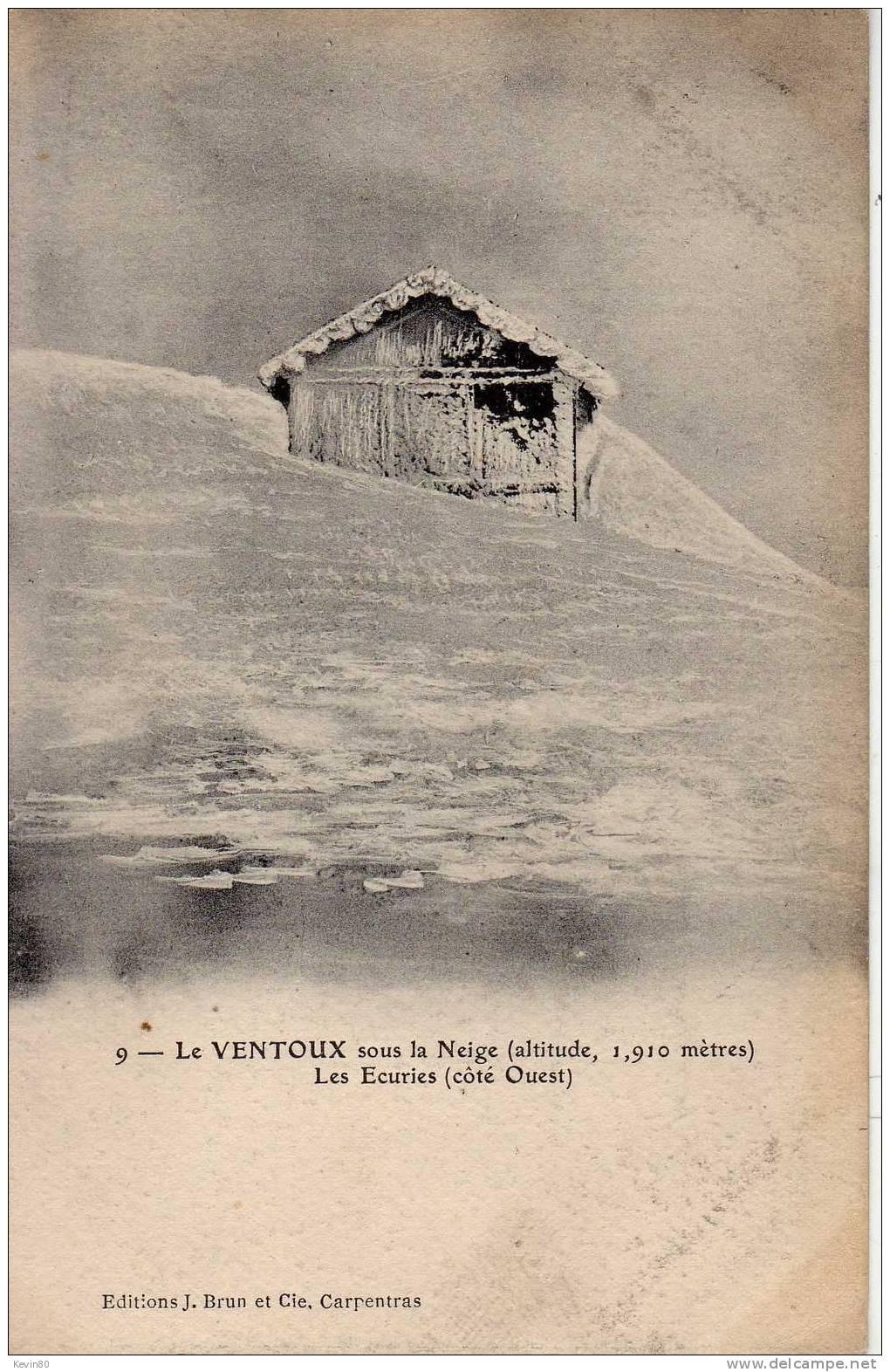 84 LE MONT VENTOUX Sous La Neige (altitude 1910 Métres) Les Ecuries (côté Ouest) - Francia
