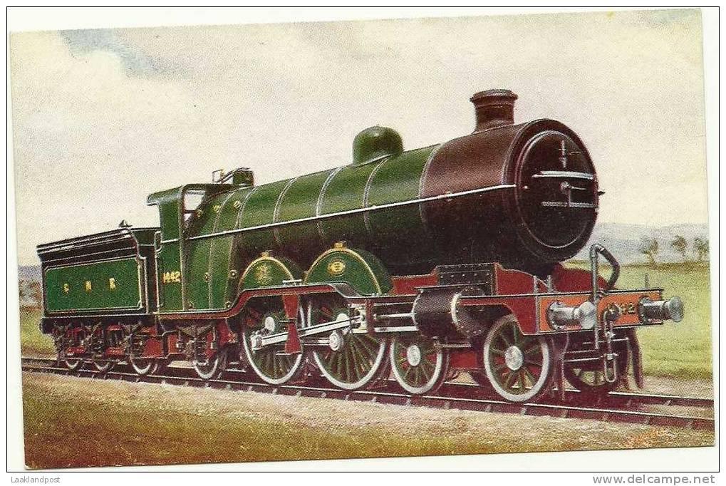 G.N.R. LOCOMOTIVE No.1442 - VINTAGE COLOUR CARD - Treinen