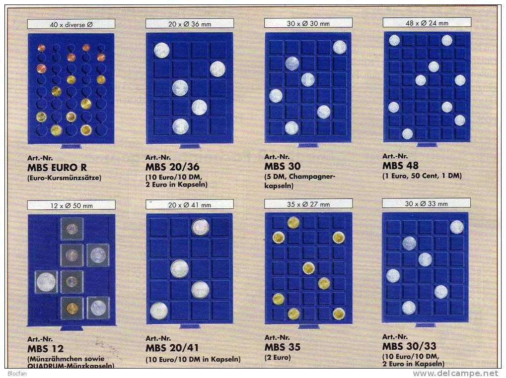 Münz-Box Für Rähmchen Angebot Des Monats 11€ Auf Blauen Samt Für 12 Münz-Rahmen Big Coins Coinbox From Leuchtturm-Verlag - Vatikan