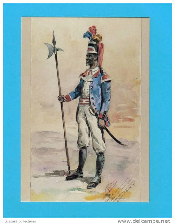 CARTE POSTAL PORTUGAL ARMY SARGENTO COMPANHIA DE CIPAES MOZAMBIQUE MOÇAMBIQUE AFRICA AFRIKA AFRIQUE - Mozambique