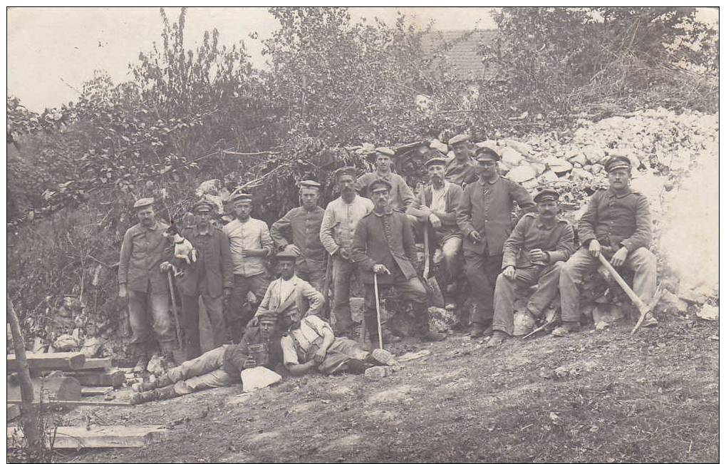SOLDATS ALLEMANDS-26.RES.DIV. WACHTKOMMANDO-CARTE PHOTO - Guerre 1914-18