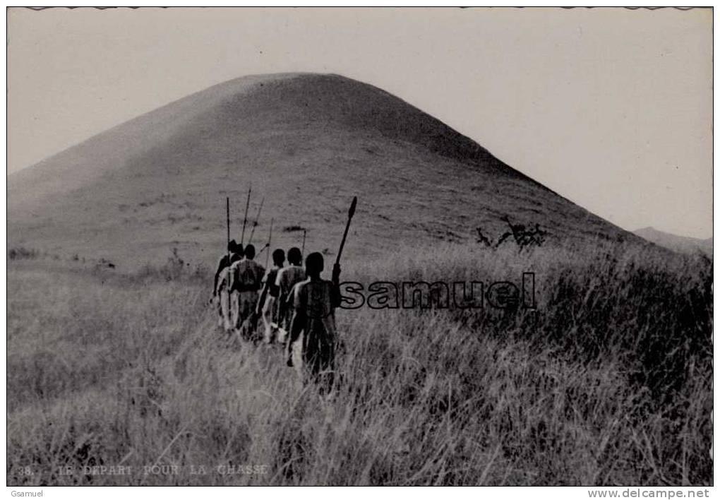 Afrique : Ruanda-Urundi. - Le Départ Pour La Chasse. - (voir Scans Recto-verso). - Ruanda-Urundi