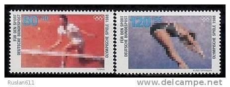 Olympic Games 1988 Germany #1354/5 MNH ** Tennis - Zomer 1988: Seoel