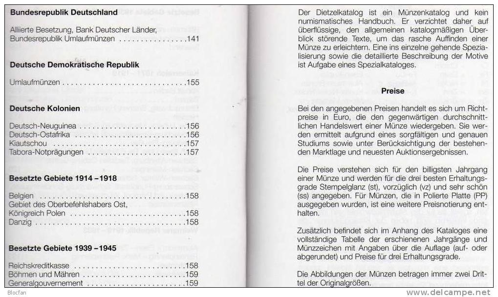 Dietzel Münzen-Katalog Deutschland 2010 New 6€ Für Münzen Seit 1871 Und Numisbriefe DR BRD DDR Coin Catalogue Of Germany - Books & Software