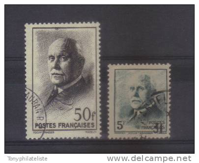 France N°524/25 (type Mazelin) Oblitéré - Oblitérés