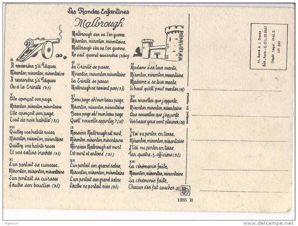 949 - Malbrough Les Rondes Enfantines Le Salut Du Cavalier - Musique Et Musiciens