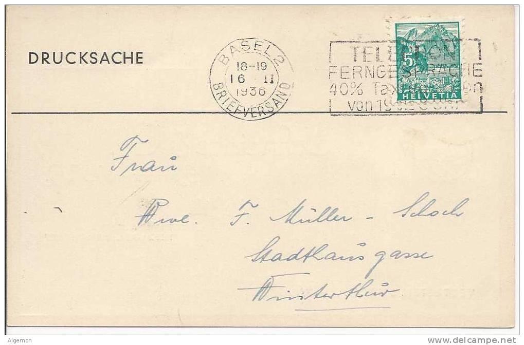 971 - Avis De Passage C. Schneider & Co Basel - Cartoncini Da Visita
