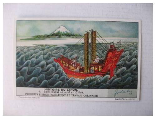 Chromo Liebig Histoire Du Japon  Saint Kukai Chine - Liebig