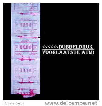 ATM. 18 Samenhangende TESTWAARDEN,  MET DUBBELDRUK Voorlaatste ATM. Unicum!! - Vignettes D'affranchissement
