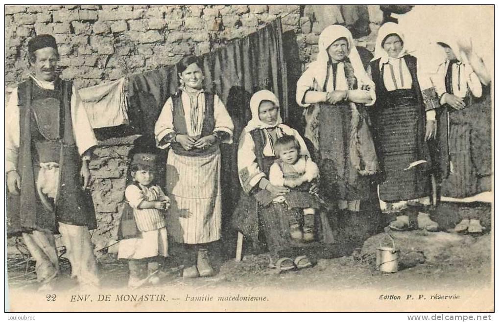 FAMILLE MACEDONIENNE ENVIRONS DE MONASTIR - Serbie