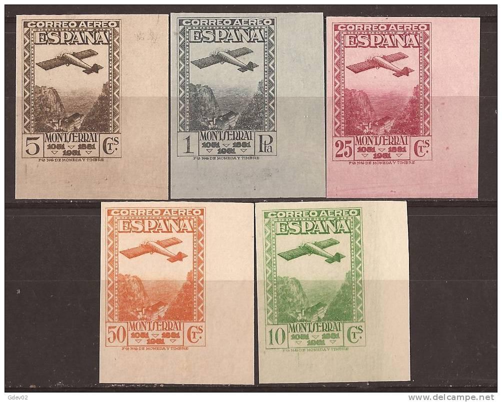 ES650-L2121.Spain.Espagne.Monasterio De  MONTSERRAT AEREA .Avion. Montañas.1931.(Ed.650/4sd*)con Charnela .LUJO - Nuevos