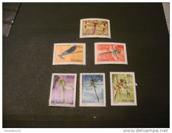 F2381-    Set  MNH Poland- Dragonflies - 1988 - Insectes