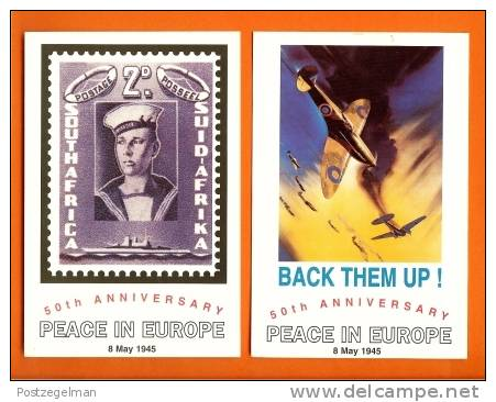 RSA 1995 5 Cards 50 Years Peace In Europe - South Africa
