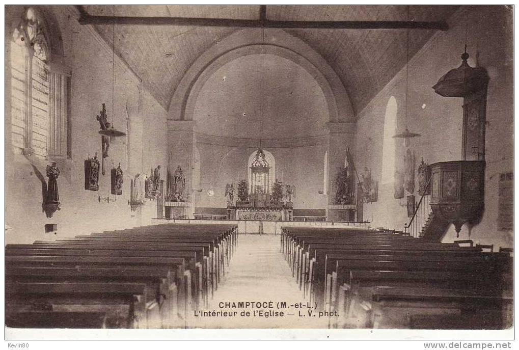 49 CHAMPTOCE L'intérieur De L'Eglise - Francia