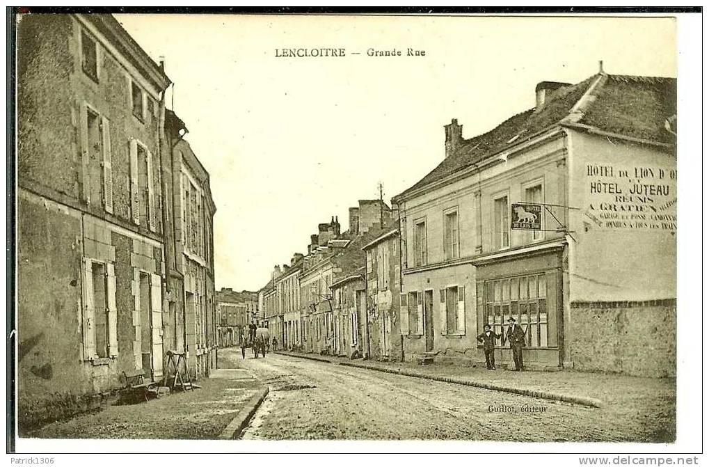 CPA  LENCLOITRE, Grande Rue 1214 - Lencloitre