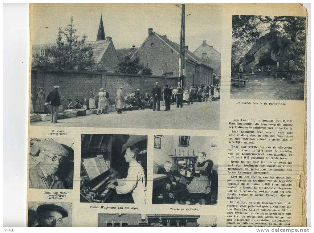 Zoerle-Parwijs  : ZO LEEFT     -    Zondagsvriend 1953 :  Knipsel 4  Pagina´s ( 27 X 37 Cm ) - Lubbeek