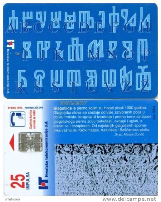 Telefonkarte Kroatien - Buchstaben,Schriftzeichen - ABC - Alphabet - 25 Units - Kroatien