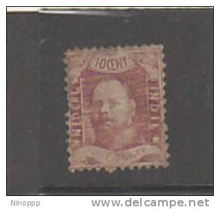 Netherlands Indies-1868 King William 10c Lake  ,  Perf 12.5x12 - Netherlands Indies