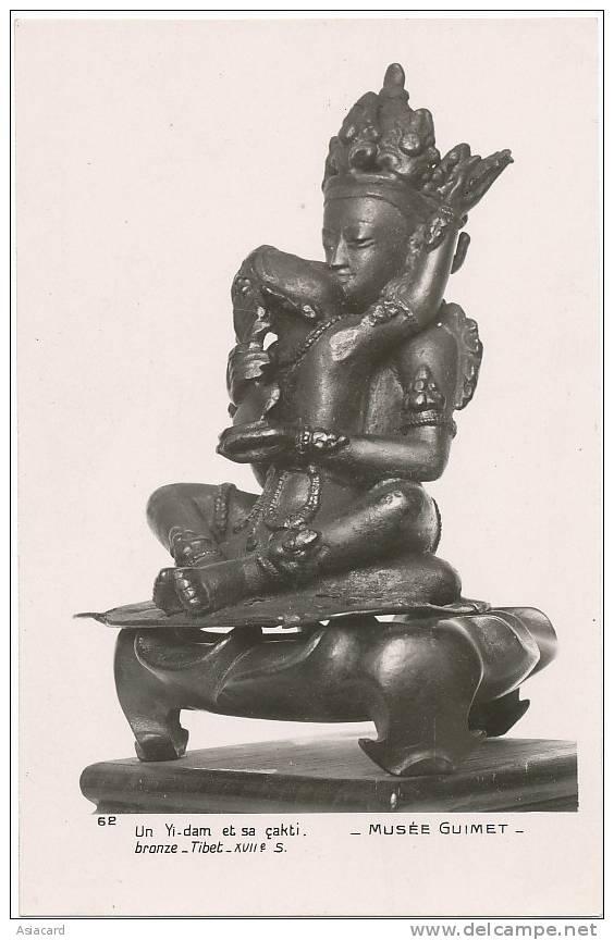Tibet Thibet Chine Musée Guimet  Un Yi Dam Et Sa Cak Ti Bronze Tibet - Tibet