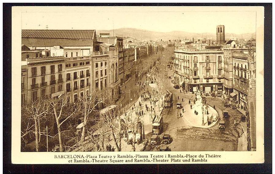 Barcelona Plaza Teatro Y Rambla S714 - Barcelona