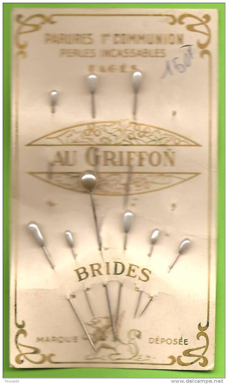 """Carte Avec 9 Epingles Façon Perle """"Parures 1re Communion"""" Pour Voile, Coifffure... - Cuff Links & Studs"""