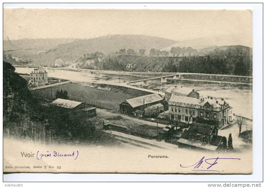 Yvoir Panorama Nels Serie 7 N° 82 (avec Chemin De Fer Et Gare?) 1903 - Yvoir