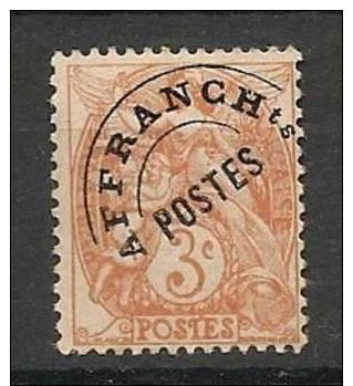 Préoblitéré N°39 Type Blanc - Sans Gomme - 1893-1947
