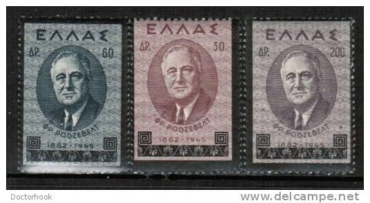 GREECE   Scott #  469-71*  F-VF MINT LH - Greece