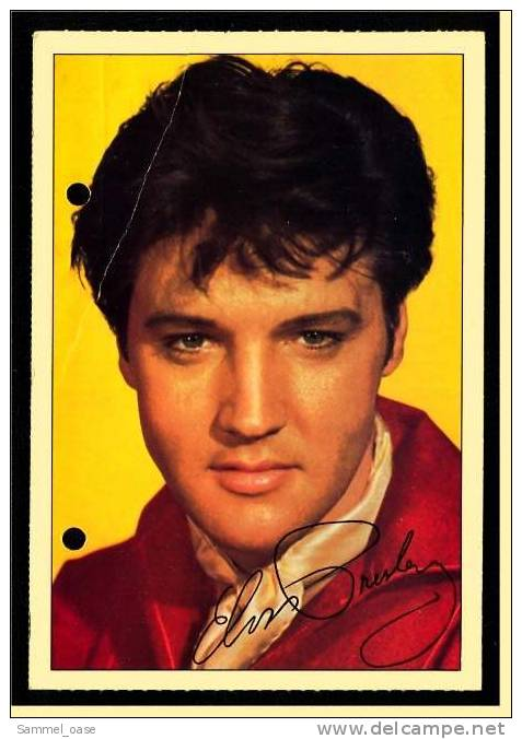 Alte Reproduktion Autogrammkarte  -  Elvis Presley   -  Von Ca. 1980 - Autogramme