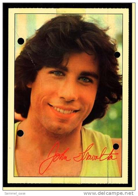 Alte Repro Autogrammkarte  -  John Travolta   -  Von Ca. 1980 - Autogramme