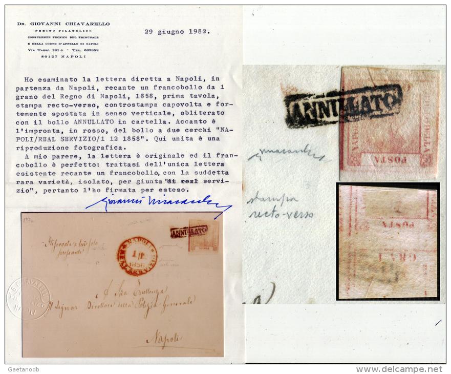 Napoli-00108 - GRANDE RARITA' - Stampa Recto/verso - Documento Postale Fino Ad Oggi UNICO!!! - Napoli