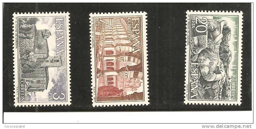 España/Spain-(MNH/**) - Edifil  2443-45 - Yvert  2088-90. - 1971-80 Nuevos & Fijasellos