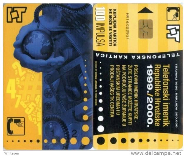 Telefonkarte Kroatien - Werbung  - Internet - Erdkugel,Globus - 100 Units - Kroatien