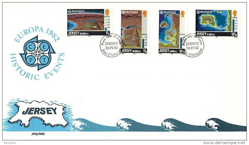 1982  Europa  FDC No Adressé  Cartes  Maps - Jersey