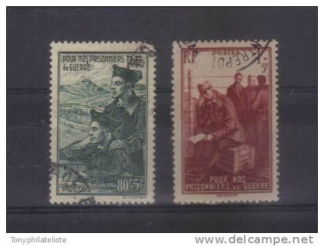 Prisonniers De Guerre  N° 474/75   Oblitéré - Used Stamps