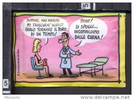 Z372 HUMOR Vignetta Barzelletta Bustina Di Zucchero Sugar Sucre - Sugars