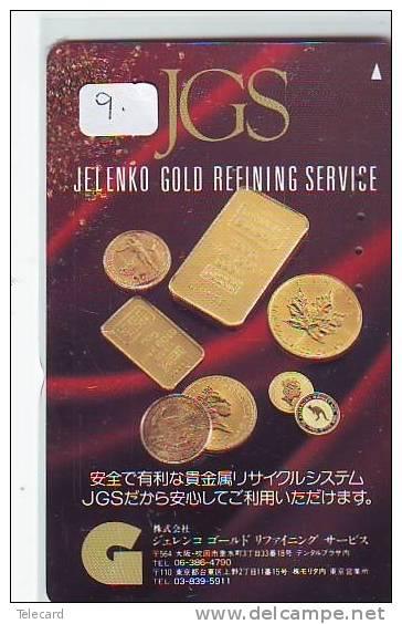 Télécarte Japon * D´OR * PHONECARD JAPAN * FINE GOLD * GOLDBARS  (9)  MONNAIE * COINS  * MONEY - Briefmarken & Münzen