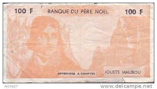 Billets Factices Divers Unifaces - 5F - 10F - 50F - 100F - Banque Enfantine - Jouets Transcar - Pere Noël - - Fictifs & Spécimens