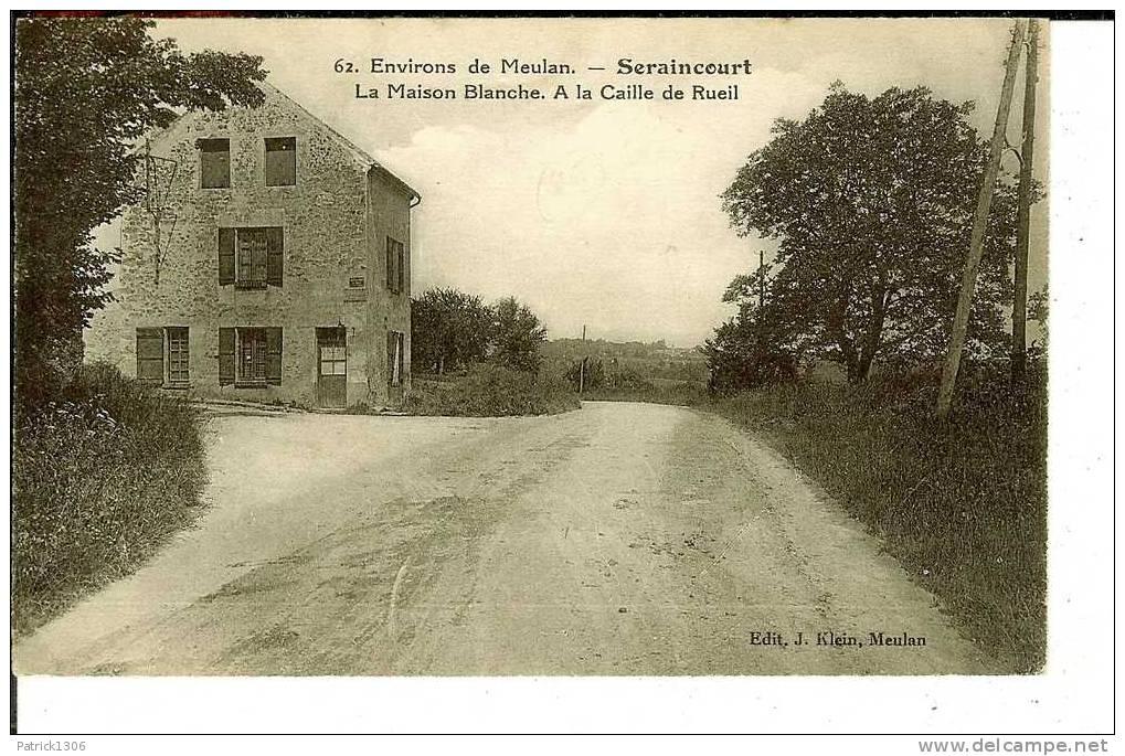 CPA  SERAINCOURT, La Maison Blanche, à La Caille De Rueil  0640 - Seraincourt