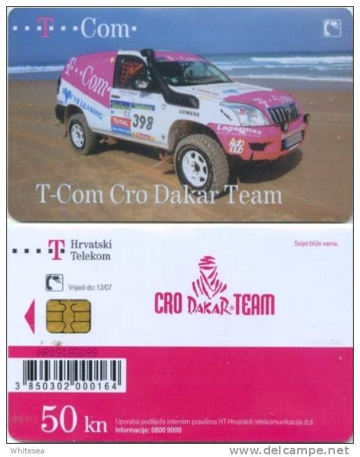Telefonkarte Kroatien - Sport - T-Com Cro Dakar Team - Auto,car - 50 Units - Kroatien