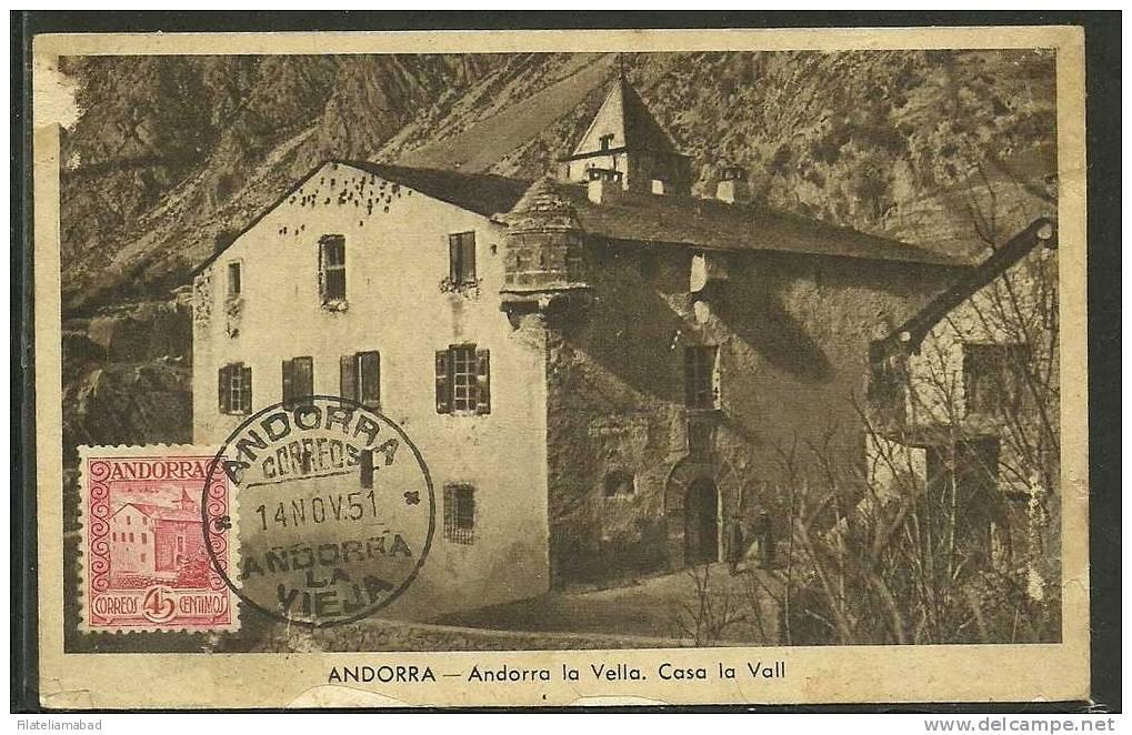 ANDORRA-  CARTA MAXIMA  R. D´Areny - Andorra Española