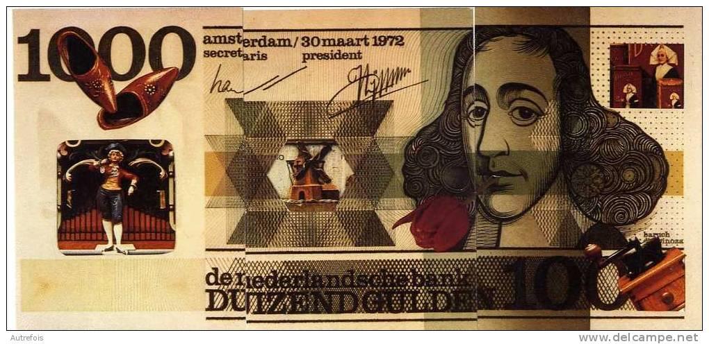 1000 FLORINS  HOLLANDE  AMSTERDAM  -  PUZZLE DE 3 CPM  -  CREATION PAUL PASTOR - Monnaies (représentations)