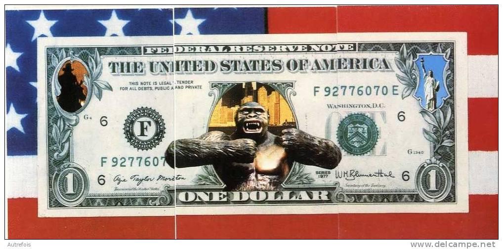 1 ONE DOLLAR  ETATS UNIS   -  PUZZLE DE 3 CPM  -  CREATION PAUL PASTOR - Monnaies (représentations)
