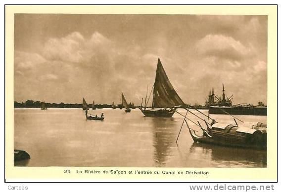 La Rivière De SAIGON Et L'entrée Du Canal De Dérivation - Viêt-Nam