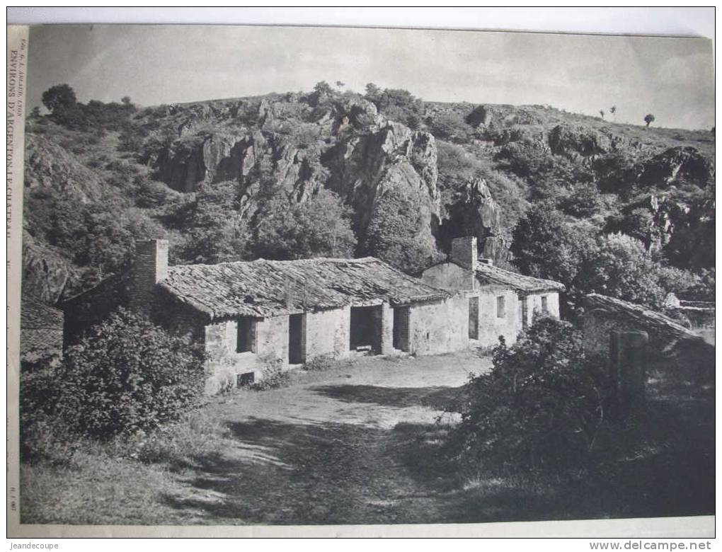 PHOTO - REGIONNALISME - Saint Florent Le Vieil - Argenton Château - Thouars  - 1939 - Historische Dokumente
