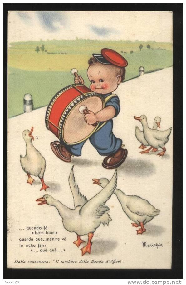 1943  ILLUSTRATORE MARIAPIA - BAMBINO CON TAMBURINO E OCHETTE - Thiele, Arthur